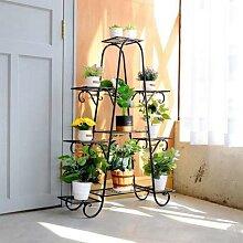 Support à plantes en fer forgé à 5/7 niveaux,