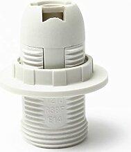 Support d'ampoule E14 Coquille en plastique