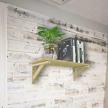 Support d'angle en bois de pin, 2 pièces,