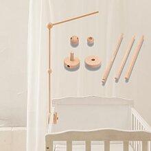 Support de cloche de lit en bois pour nouveau-né,