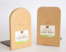 Support de livre en bois de hêtre naturel, 1