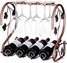 Support de verre à vin en fer forgé pouvant