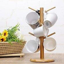 Support en bois pour tasses, service à thé,
