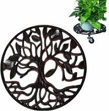 Support en fer pour pots de fleurs, palette de