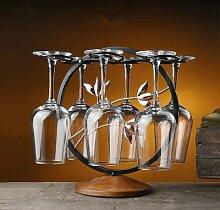 Support en fil de fer creux pour verres à vin