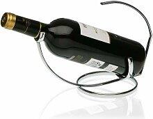 Support pour bouteille de vin chromé de la marque