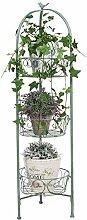 Support pour fleurs en métal - Vert - 110 cm -