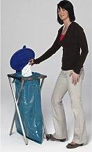 Support sac-poubelle hygiénique, en inox pour