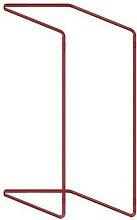 support sac-poubelle repliable - 400l rouge manutan