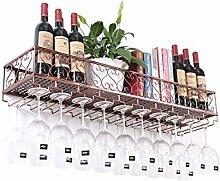 Supports à vin en métal suspendus porte-verre à
