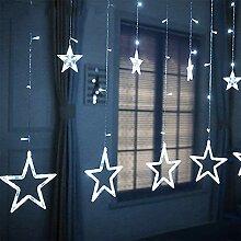 Surakey Guirlande Lumineuse 138 LED, 12 Rideaux en