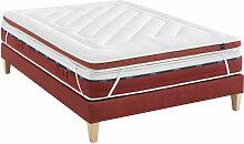 Surmatelas latex pulse S95 160x200 - Blanc - Someo