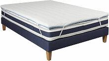 Surmatelas mousse confort S55 180x200 - Blanc -