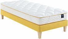 Surmatelas ouate 600g/m² S25 120x200 - Blanc -