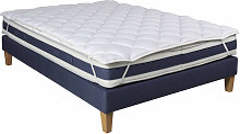Surmatelas ouate 600g/m² S25 140x190 - Blanc -