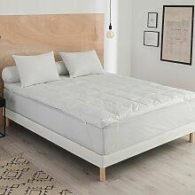 Surmatelas Surconfort® Naturel - 140/190 Blanc -