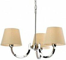 Suspension 3 ampoules fairmont, acier inoxydable,