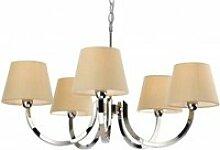 Suspension 5 ampoules fairmont, acier inoxydable,