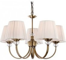Suspension 5 ampoules langham, laiton antique,