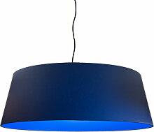 Suspension abat-jour bleu D 60 cm