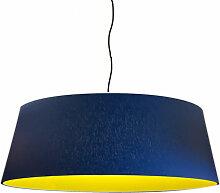 Suspension abat-jour jaune D 60 cm
