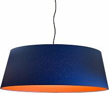 Suspension abat-jour orange d 60 cm