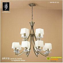 Suspension Akira 2 Tier 12 Ampoules E14, laiton