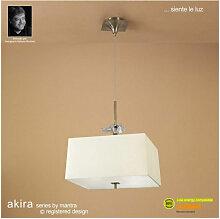Suspension Akira 4 Ampoules E27, laiton