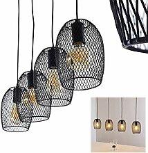 Suspension Aneby en métal noir, 5 lampes