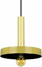 Suspension avec abat-jour design dorée