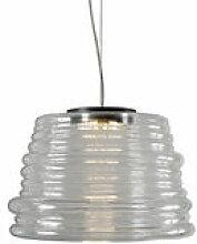 Suspension Bibendum LED / Ø 35 cm - Verre -