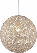Suspension boule en papier tressé 1 ampoule Lampe