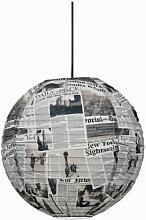 Suspension boule japonaise newspaper