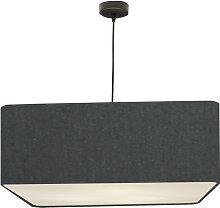 Suspension carré gris souris d 50 cm