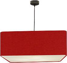 Suspension carré rouge d 50 cm