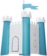 Suspension chateau fort bleu