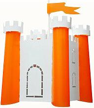 Suspension chateau fort orange et blanc
