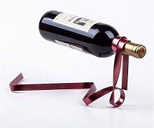 Suspension créative de ruban de vin en fer,