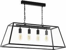 Suspension de plafond industriel noir éclairage