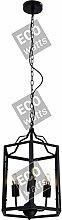 Suspension E14 x 3 abat-jour métal Noir cable PVC