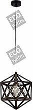 Suspension E27 abat-jour métal Noir cable PVC