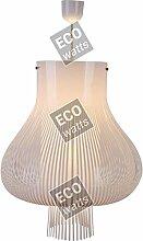 Suspension E27 Max.40W abat-jour PVC Blanc