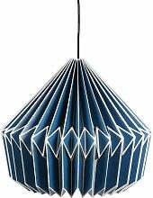 Suspension en papier origami bleu indigo Polka