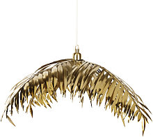 Suspension feuille de palmier en métal doré