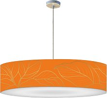 Suspension feuille orange acidulée D 60 x H 30