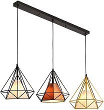 Suspension forme Diamant 25cm Lustre Industrial