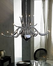 Suspension Grand lustre chandelier en métal 24