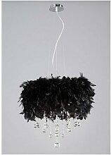 Suspension Ibis avec Abat jour noir en plume 3