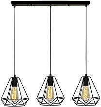 Suspension Industrielle Vintage Cage Dimant, Lampe