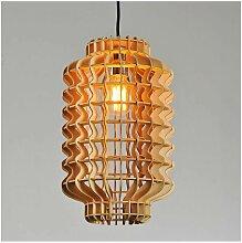 Suspension lanterne chinoise en bois - Avy - Bois